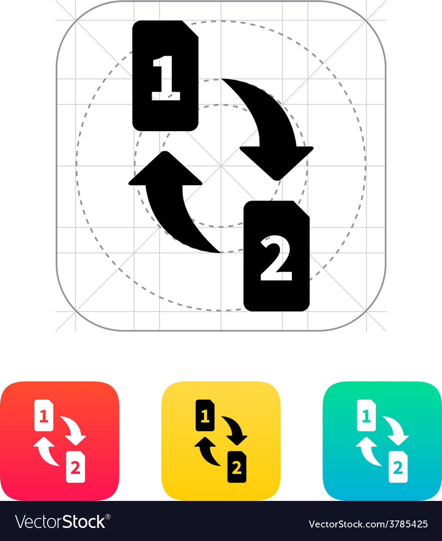 Change sim cards icon vector | Price: 1 Credit (USD $1)