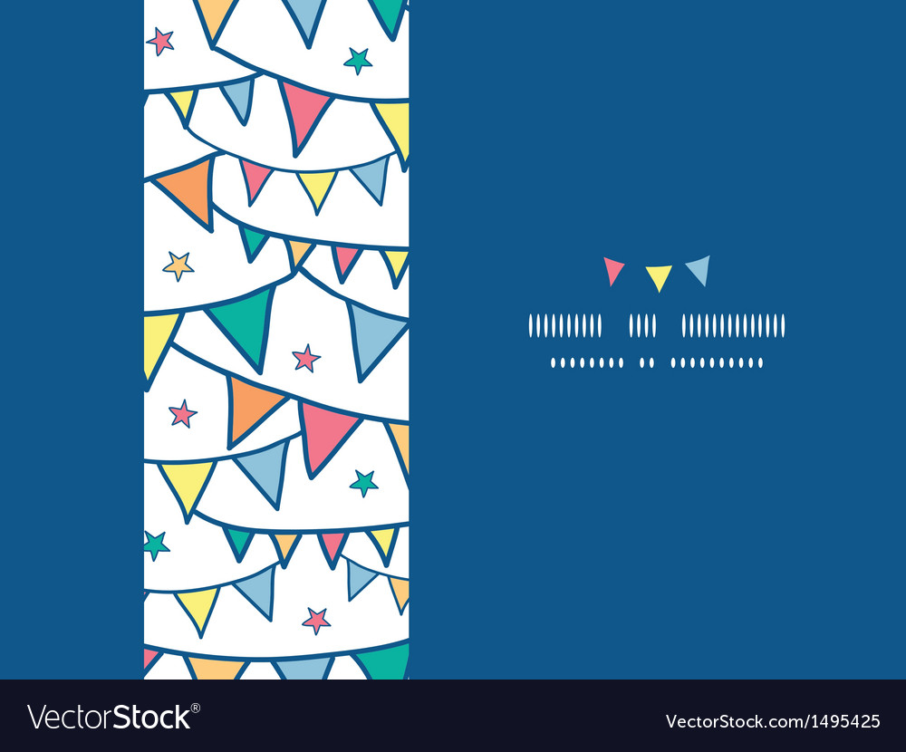 Colorful doodle bunting flags horizontal seamless vector | Price: 1 Credit (USD $1)