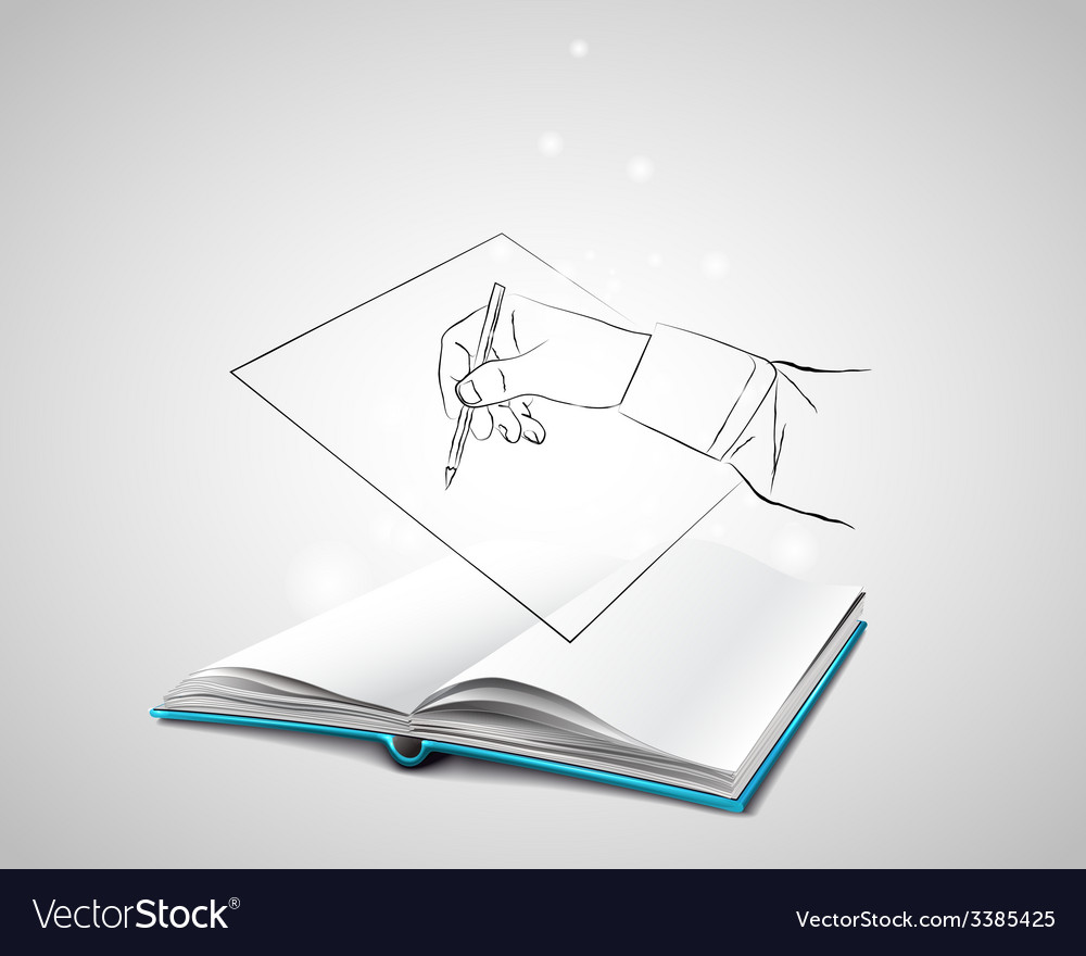 Doodle hand writes on a piece of paper vector | Price: 1 Credit (USD $1)