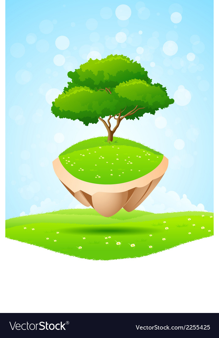 Green tree vector | Price: 3 Credit (USD $3)