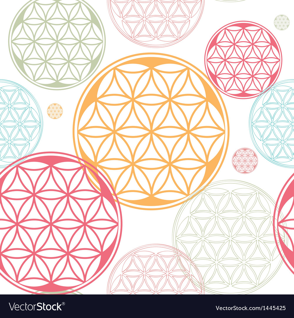 Seamles flower of life seed theme vector | Price: 1 Credit (USD $1)