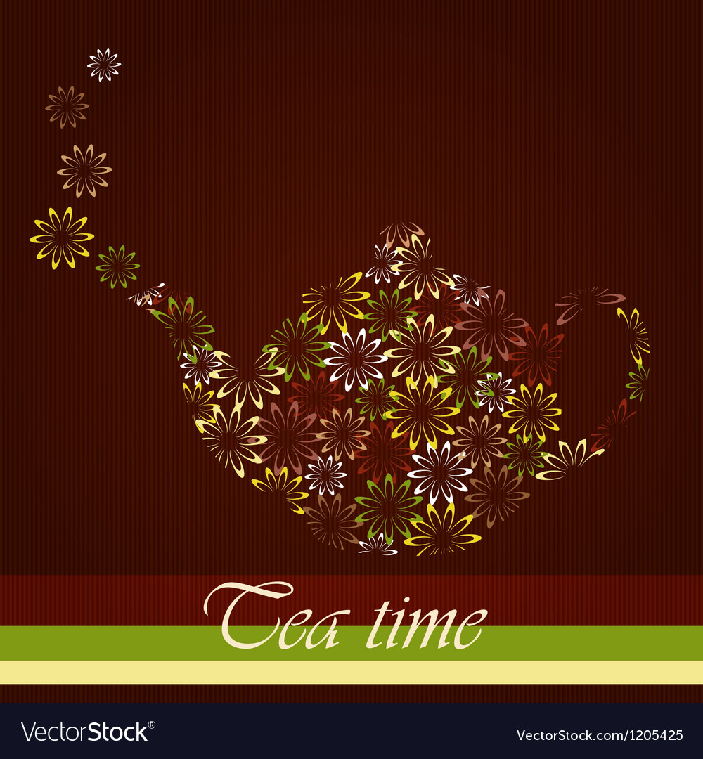 Tea time template vector | Price: 1 Credit (USD $1)
