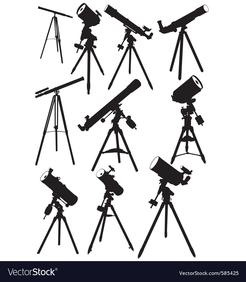 Telescope silhouettes vector | Price: 1 Credit (USD $1)