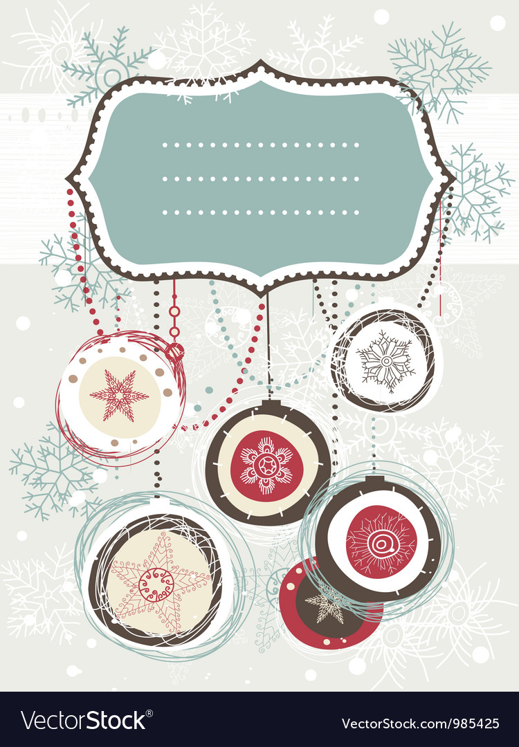 Vintage christmas invitation vector | Price: 1 Credit (USD $1)
