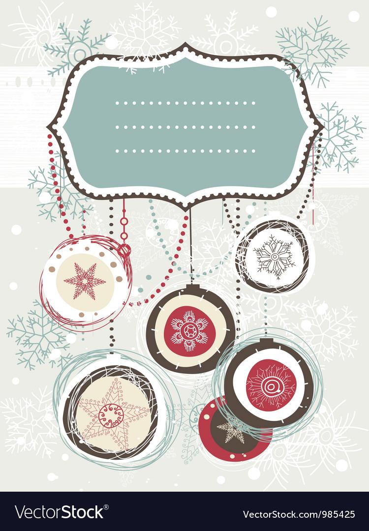 Vintage christmas invitation vector | Price: 1 Credit (USD $1)