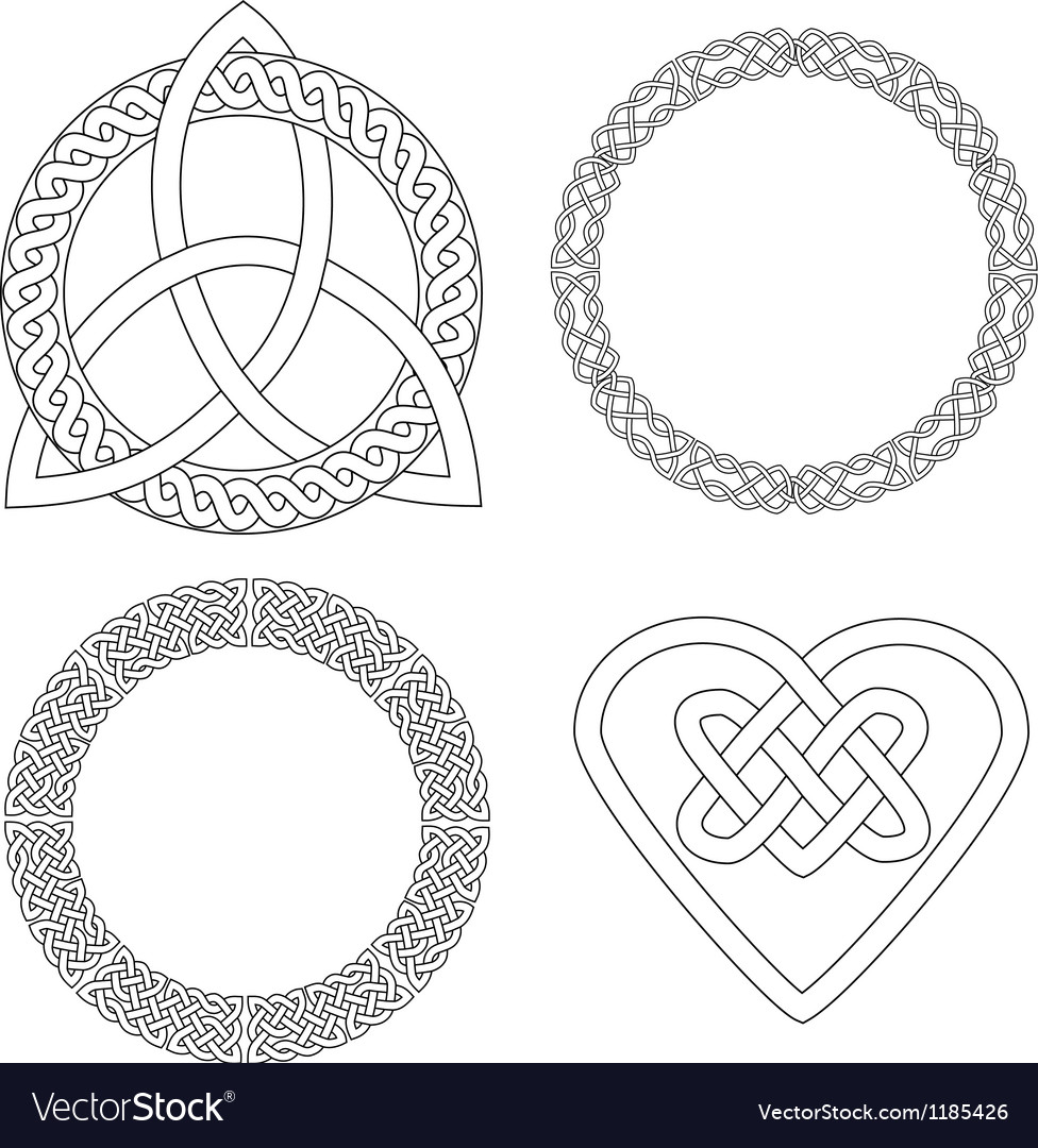 4 celtic patterns vector | Price: 1 Credit (USD $1)