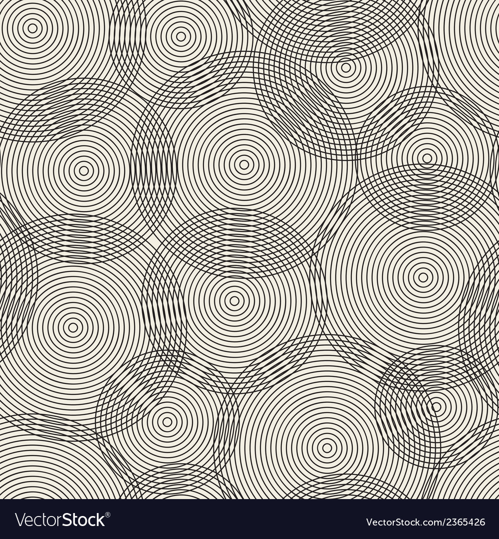 Abstract seamless pattern of rings vector | Price: 1 Credit (USD $1)