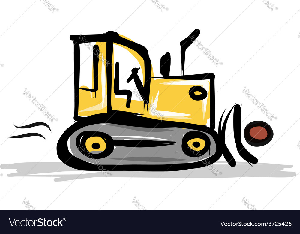 Caterpillar tractor construction equipment for vector | Price: 1 Credit (USD $1)