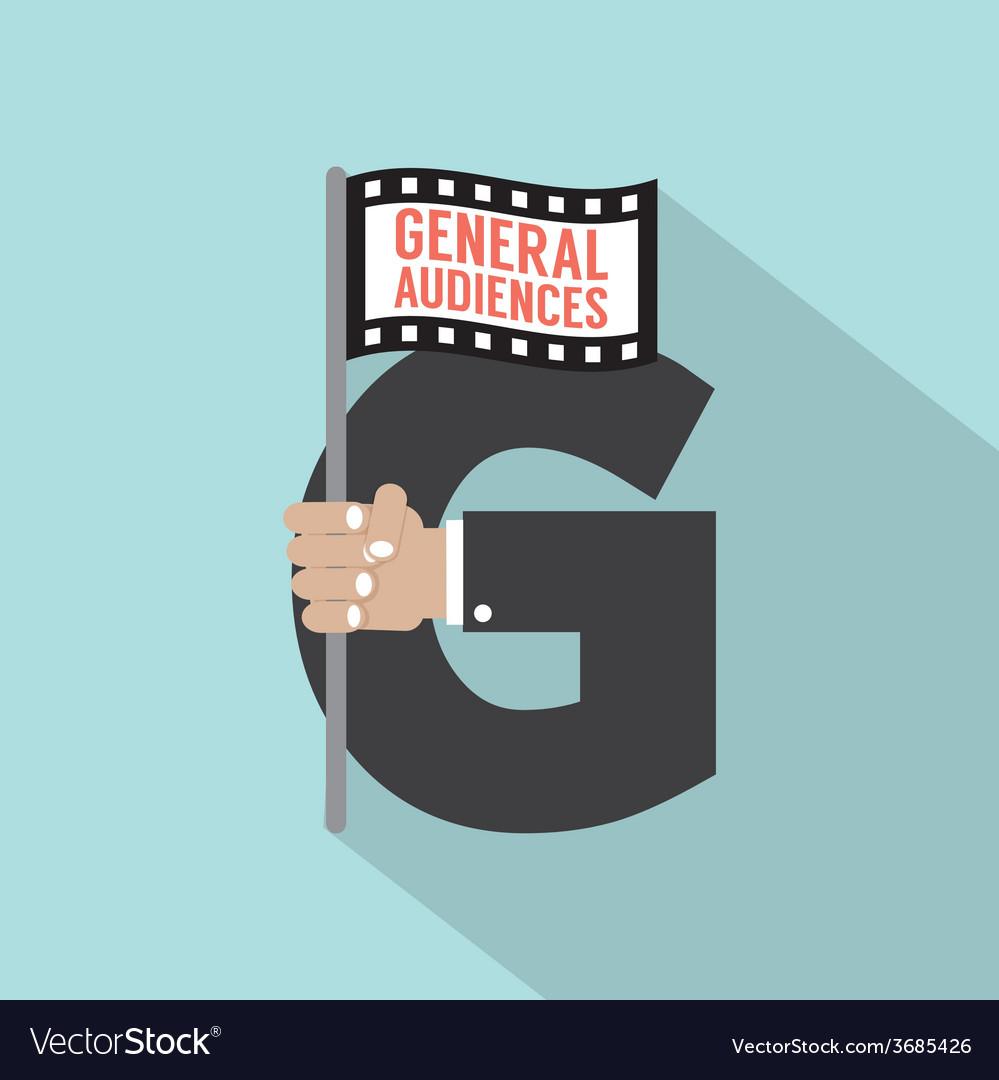 General audiences symbol-american film rating vector | Price: 1 Credit (USD $1)