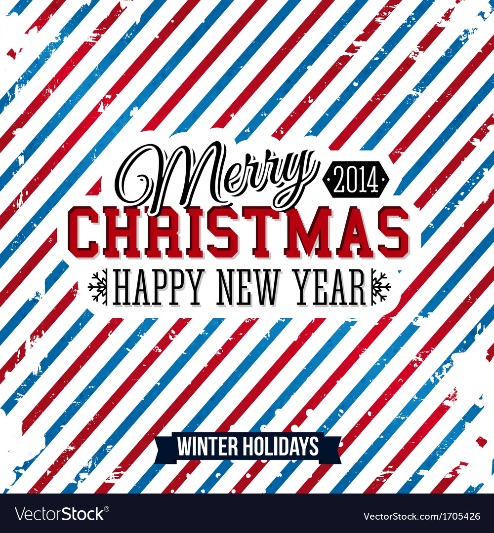 Merry christmas and happy new year card on a vector | Price: 1 Credit (USD $1)