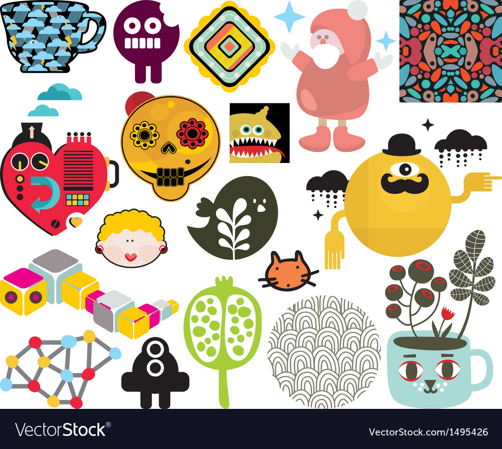 Mix of images and icons vol66 vector | Price: 3 Credit (USD $3)