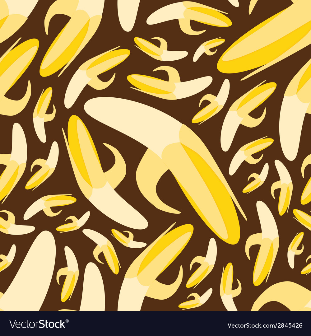 Seamless banana pattern vector | Price: 1 Credit (USD $1)