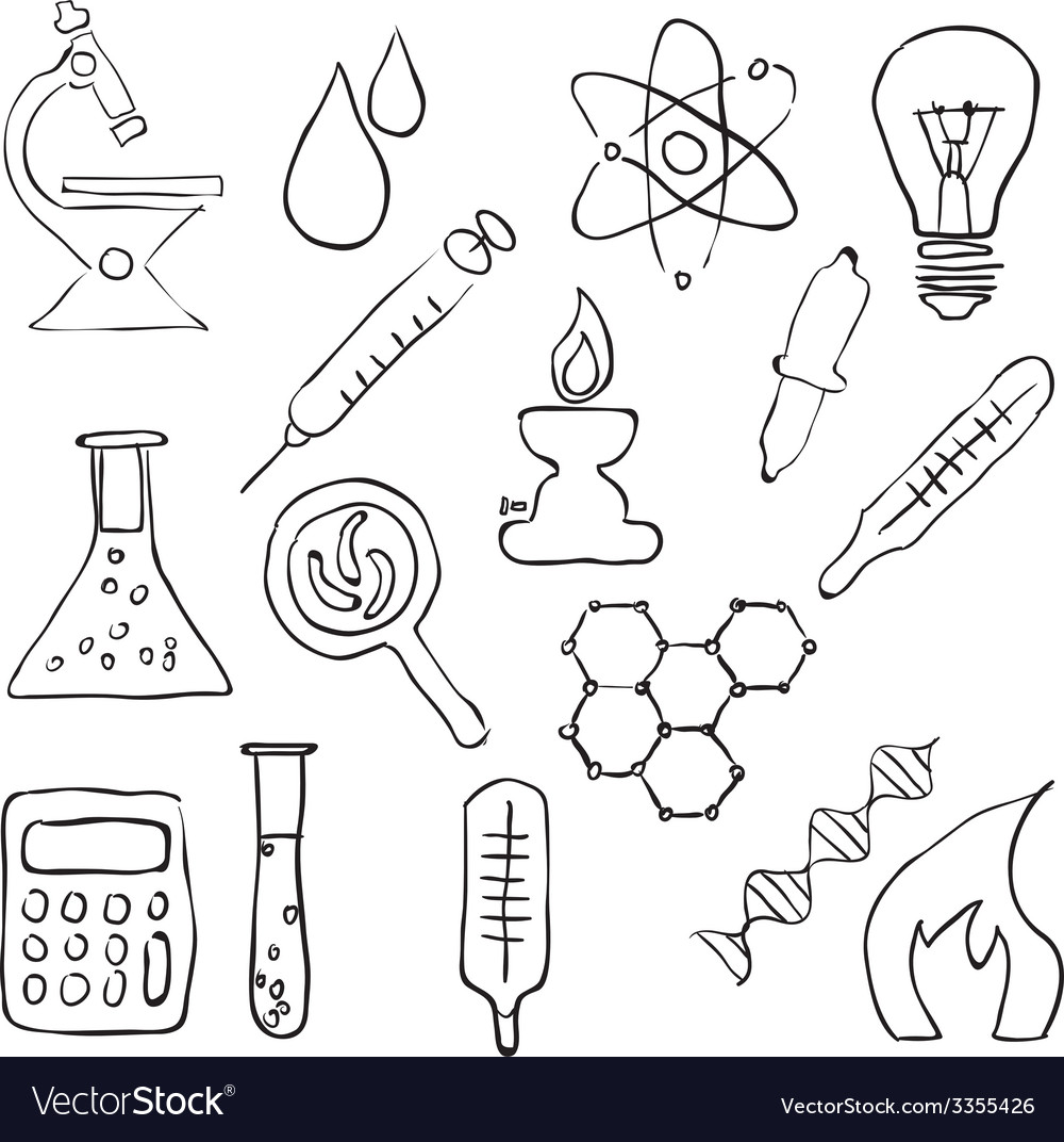 Sketch laboratory images vector | Price: 1 Credit (USD $1)