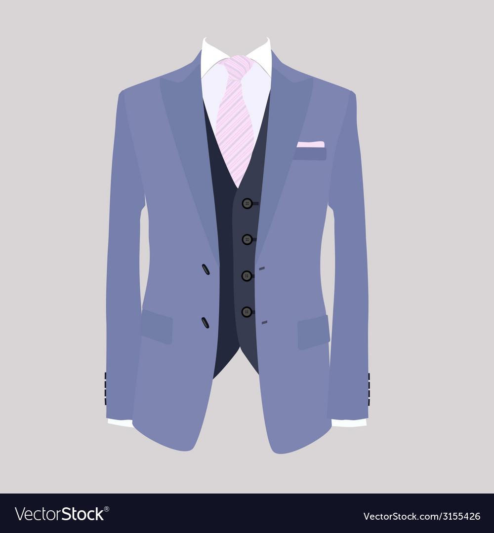 Suit pink necktie vector | Price: 1 Credit (USD $1)