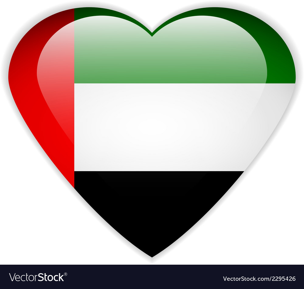 United arab emirates flag button vector | Price: 1 Credit (USD $1)