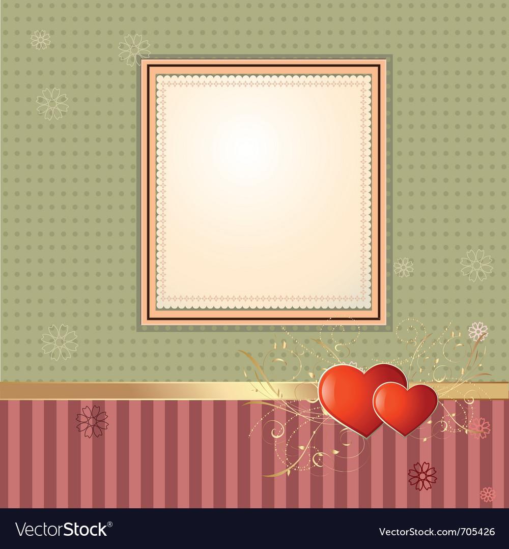 Wallpaper retro frame vector | Price: 3 Credit (USD $3)