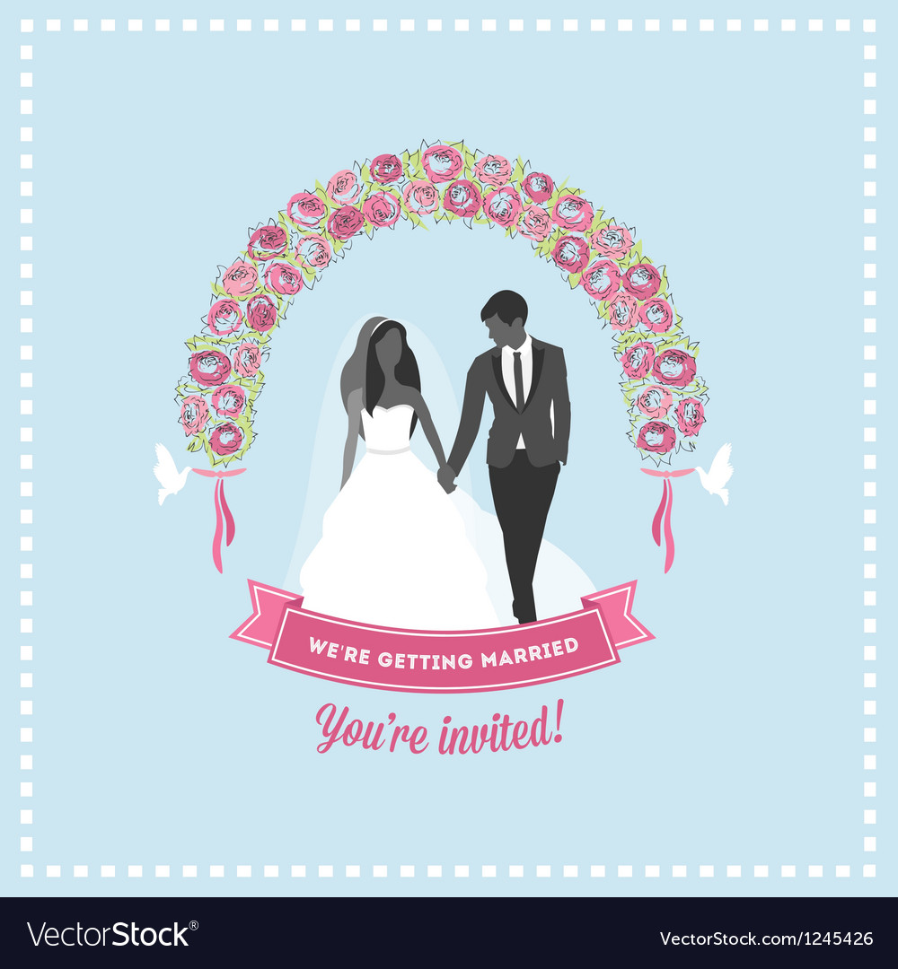 Wedding invitation flower arch vector | Price: 1 Credit (USD $1)