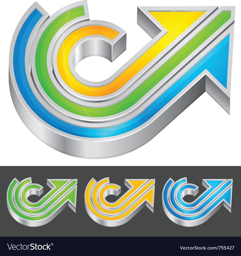 Color arrow vector | Price: 1 Credit (USD $1)