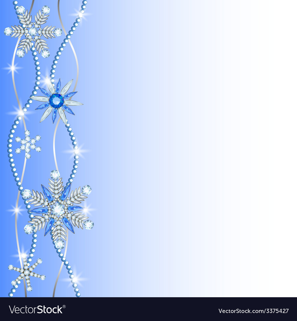 Diamond hanging snowflakes vector | Price: 1 Credit (USD $1)