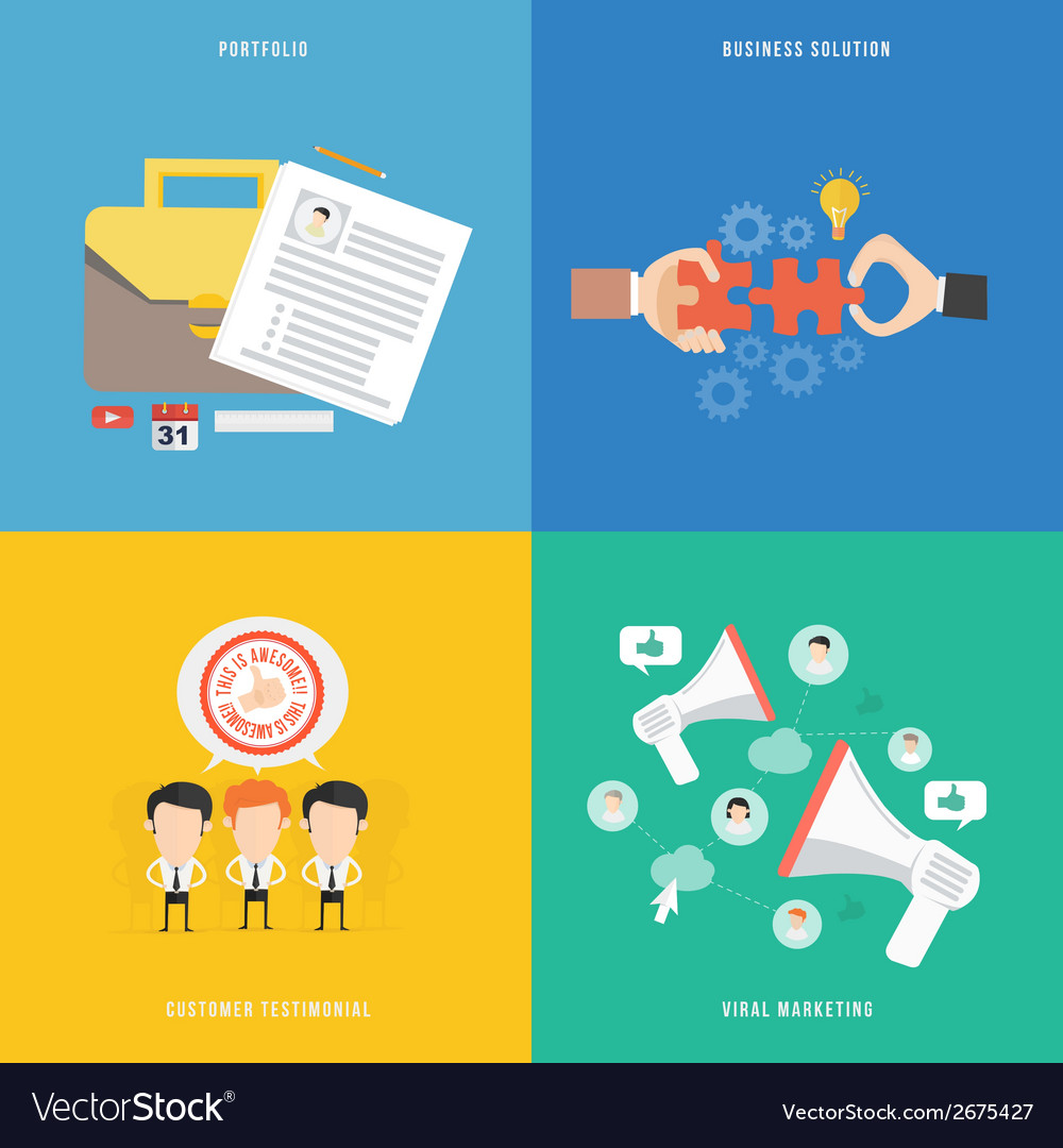Element of portfolio solution viral marketing and vector | Price: 1 Credit (USD $1)