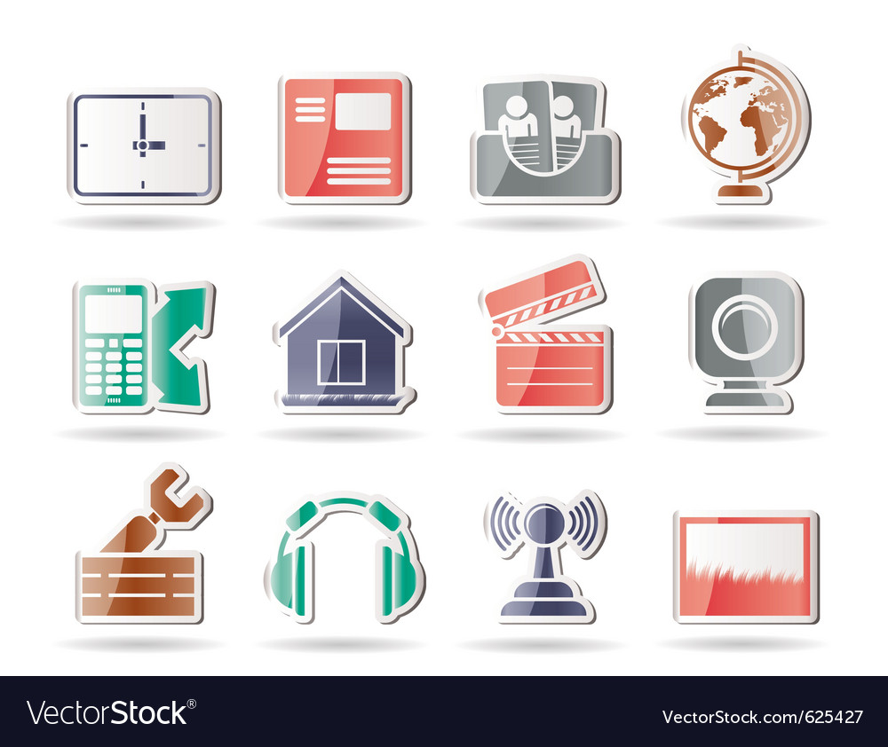 Mobile phone and computer icons vector   Price: 1 Credit (USD $1)