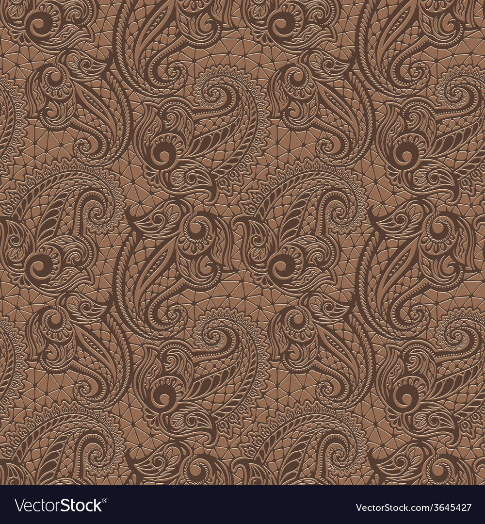 Paisley seamless lace pattern vector   Price: 1 Credit (USD $1)