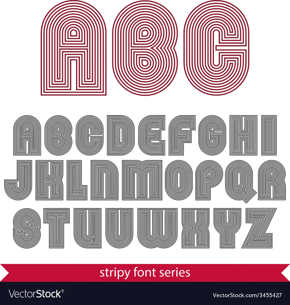 Rounded poster elegant stripy typeset best for vector | Price: 1 Credit (USD $1)