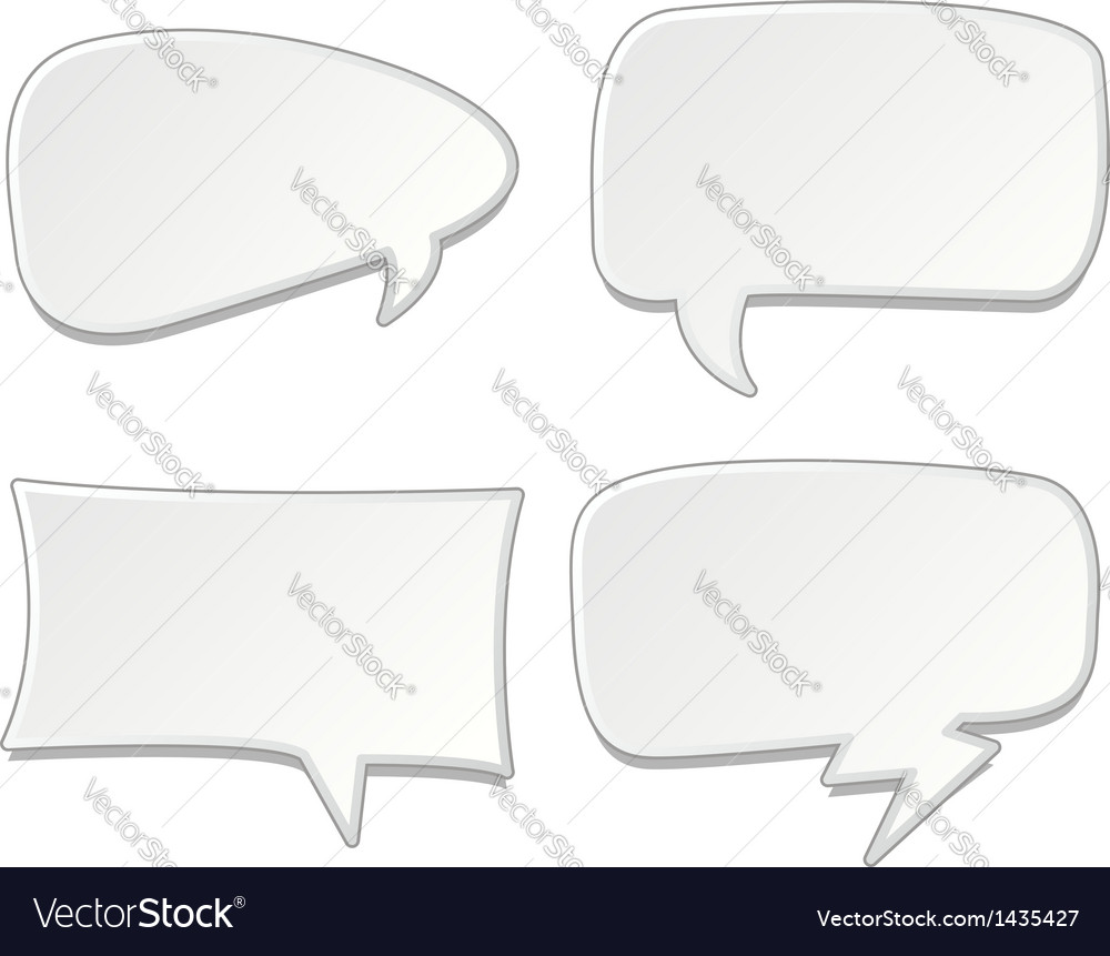 Speech bubbles set vector | Price: 1 Credit (USD $1)