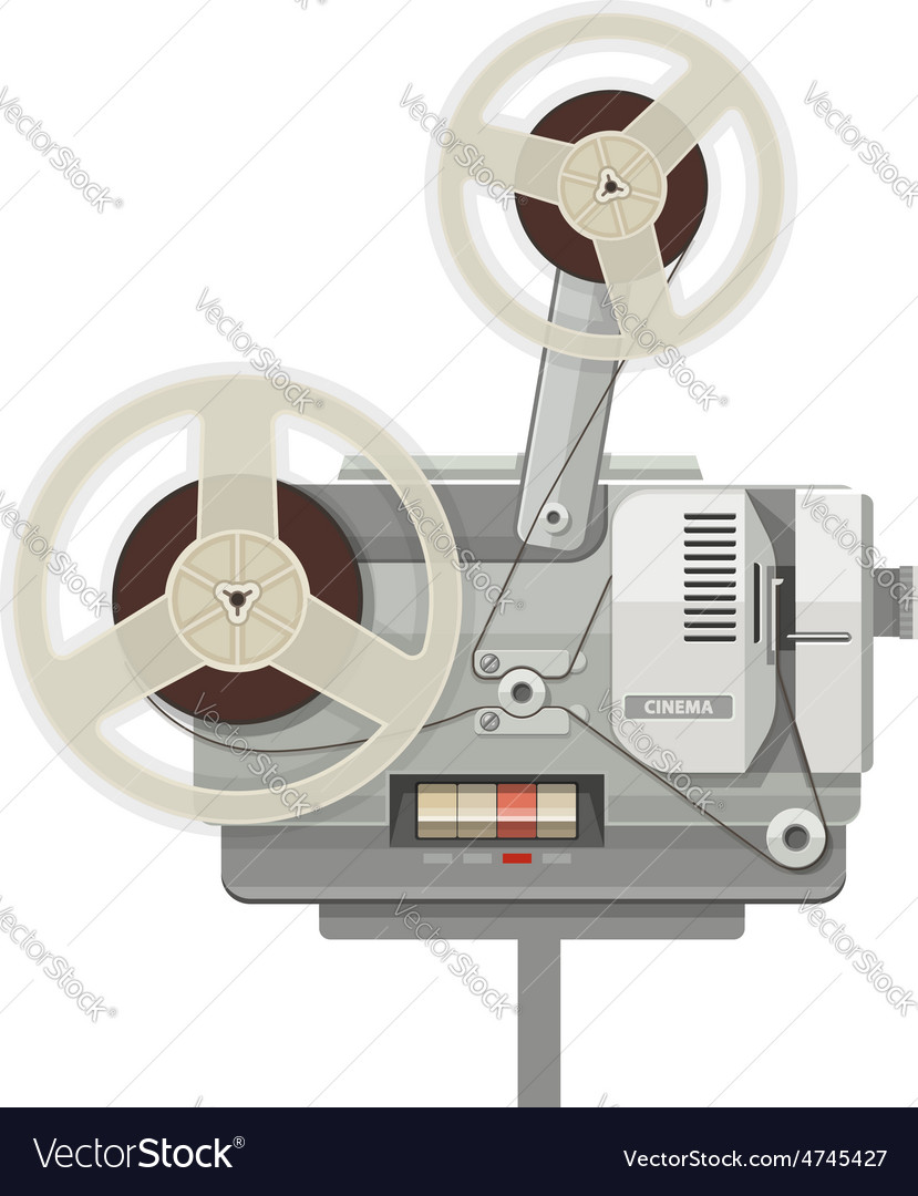Vintage retro cinema vector | Price: 1 Credit (USD $1)