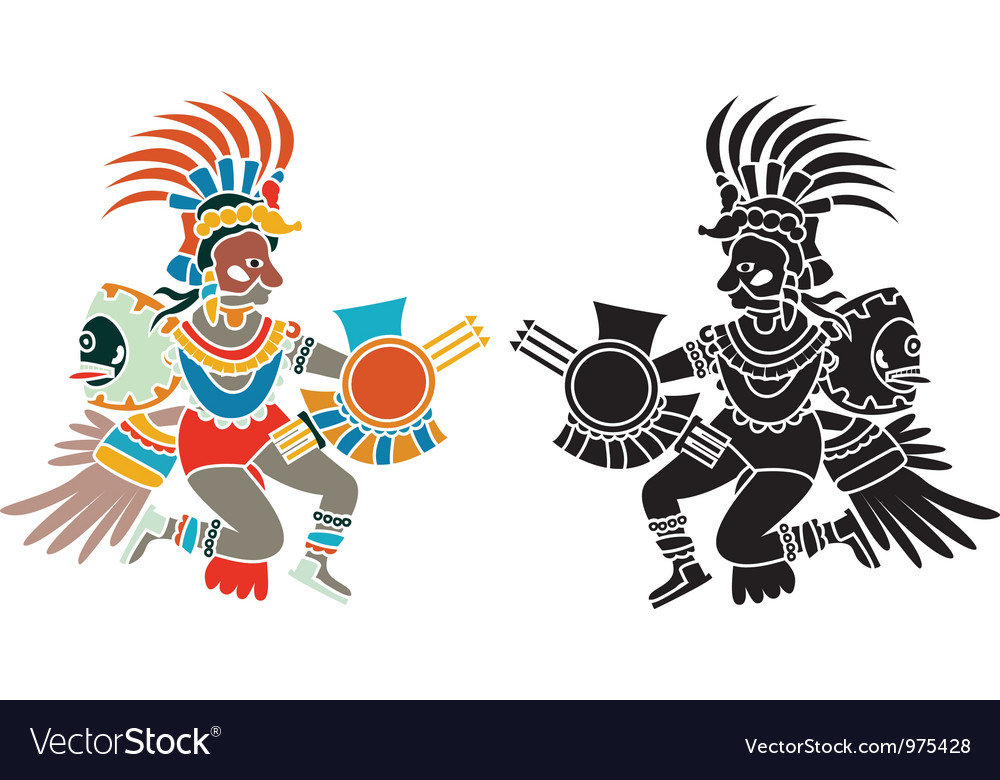 Aztec stencil vector | Price: 1 Credit (USD $1)