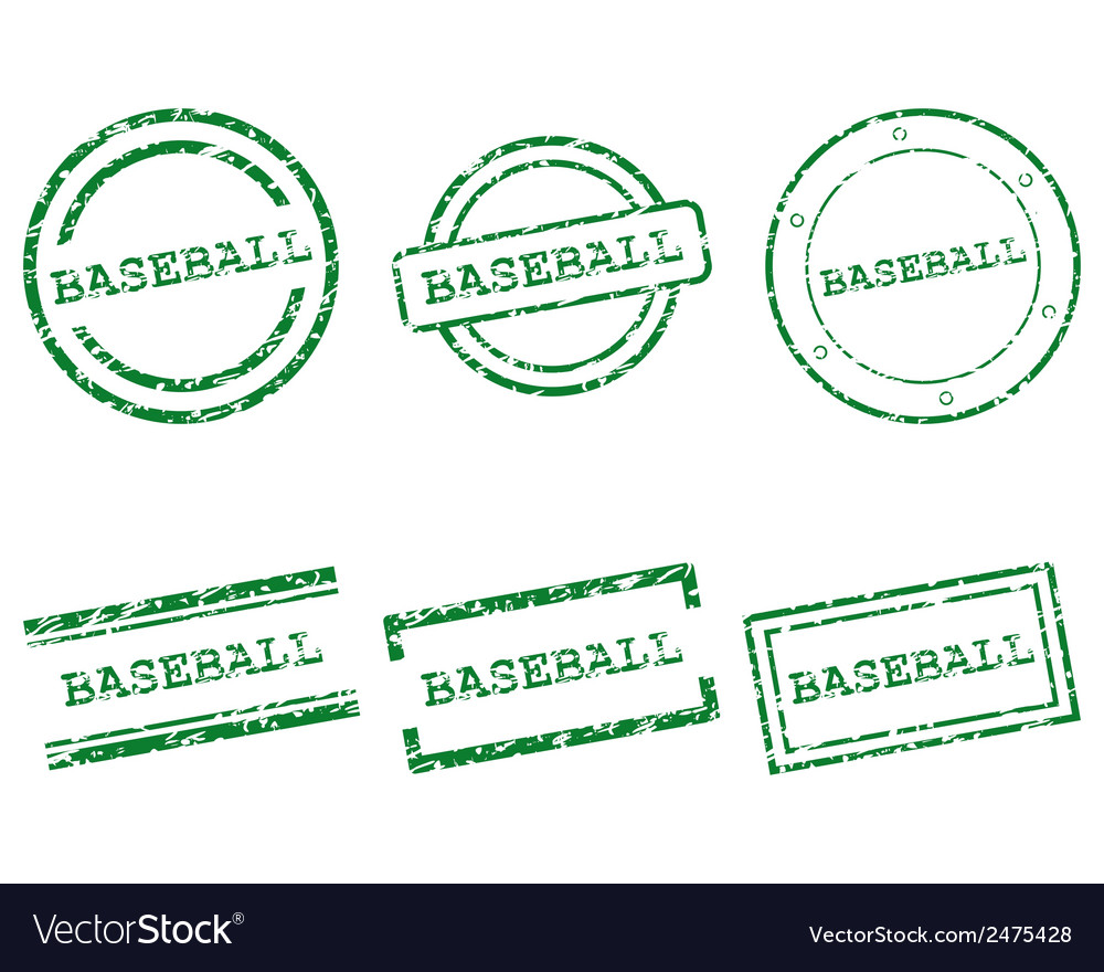 Baseball stamps vector | Price: 1 Credit (USD $1)