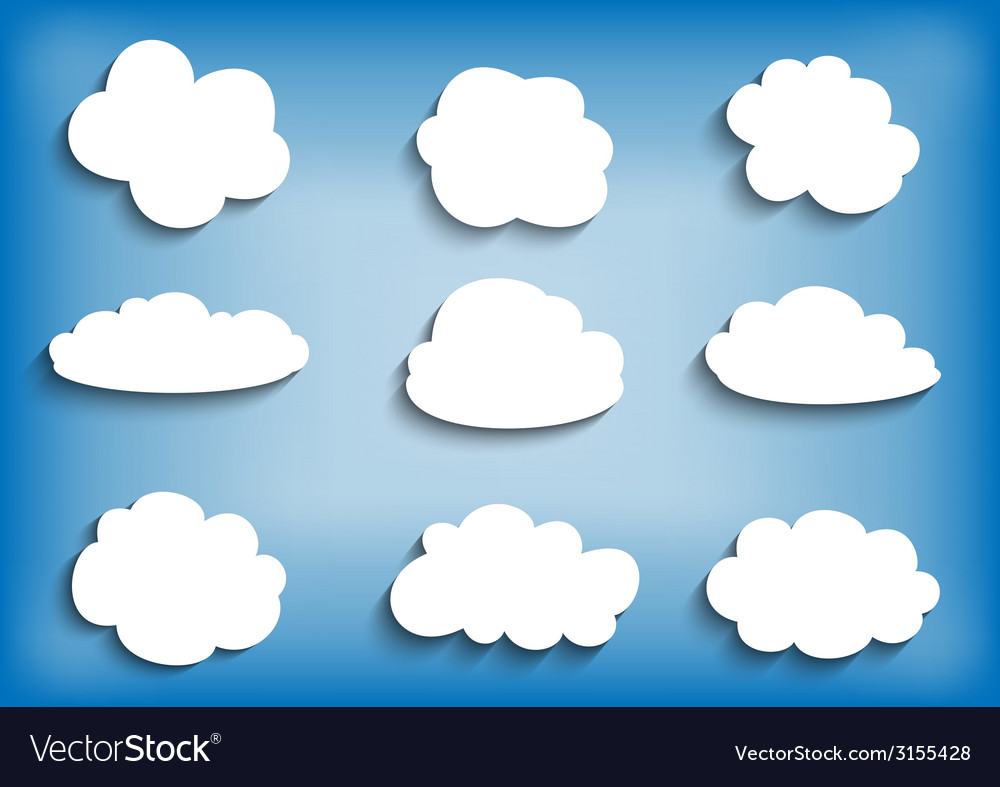 Cloud collection vector | Price: 1 Credit (USD $1)
