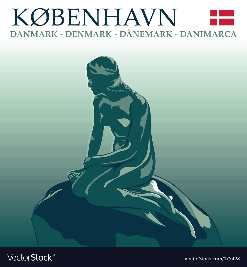 Copenhagen mermaid vector | Price: 1 Credit (USD $1)