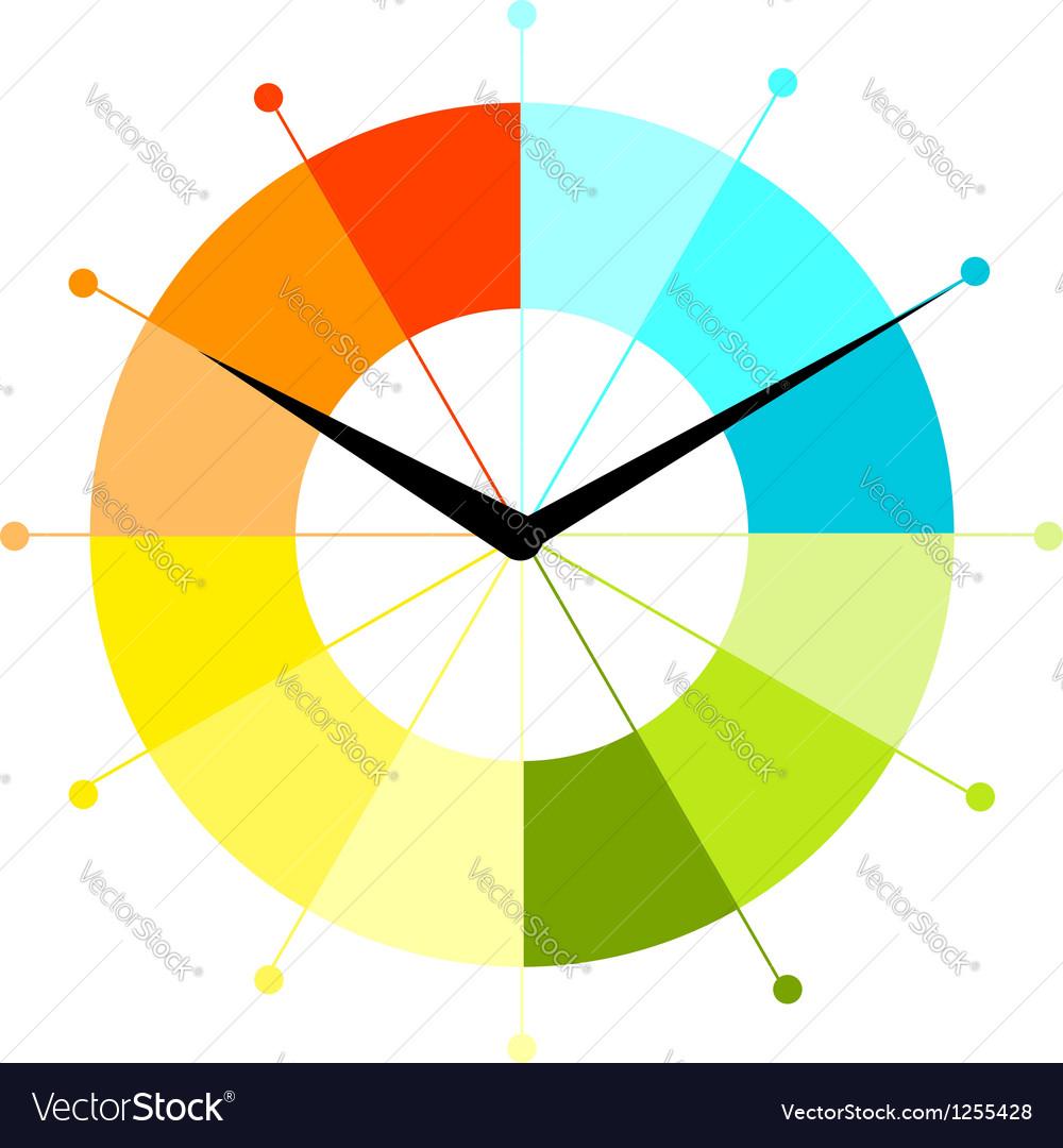 Creative clock design vector | Price: 1 Credit (USD $1)