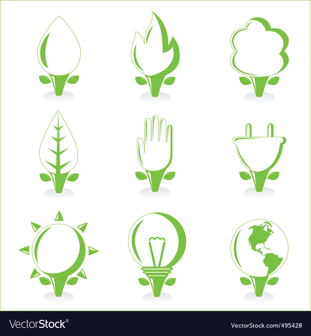 Ecology and energy symbol vector | Price: 1 Credit (USD $1)