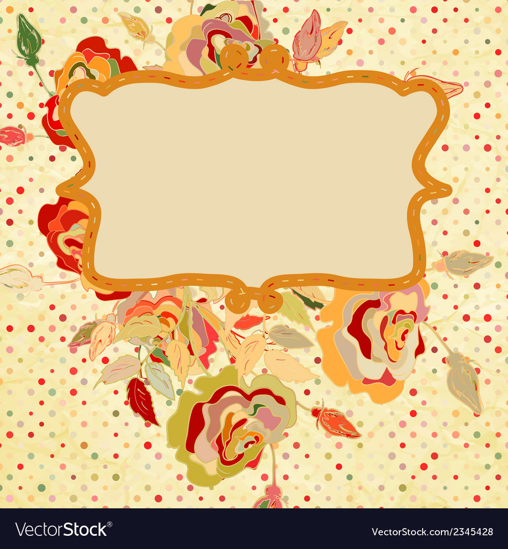 Floral design elements with polka dot eps 8 vector | Price: 1 Credit (USD $1)