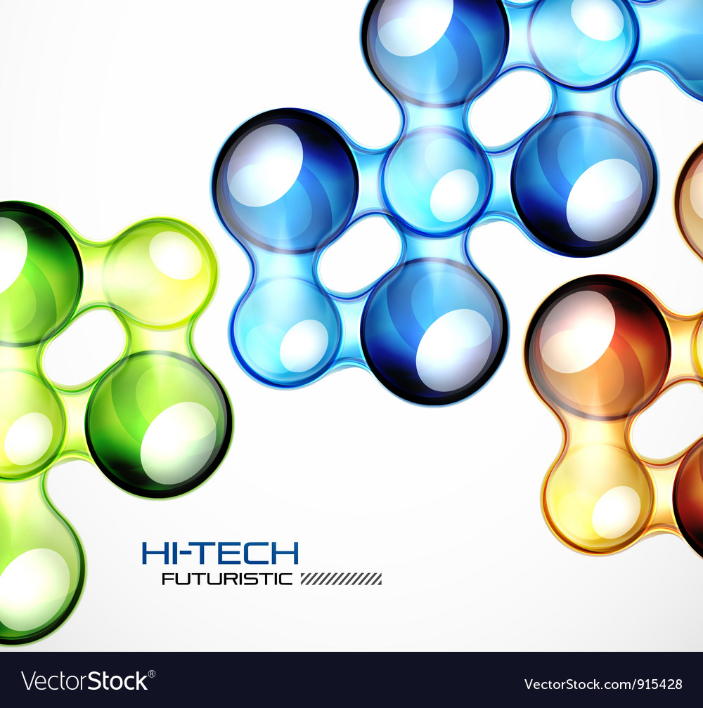 Glossy bubble abstract background vector | Price: 1 Credit (USD $1)