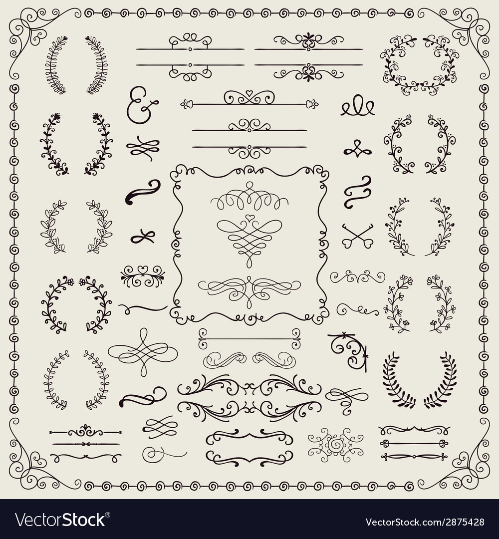 Hand drawn doodle design elements vector | Price: 1 Credit (USD $1)