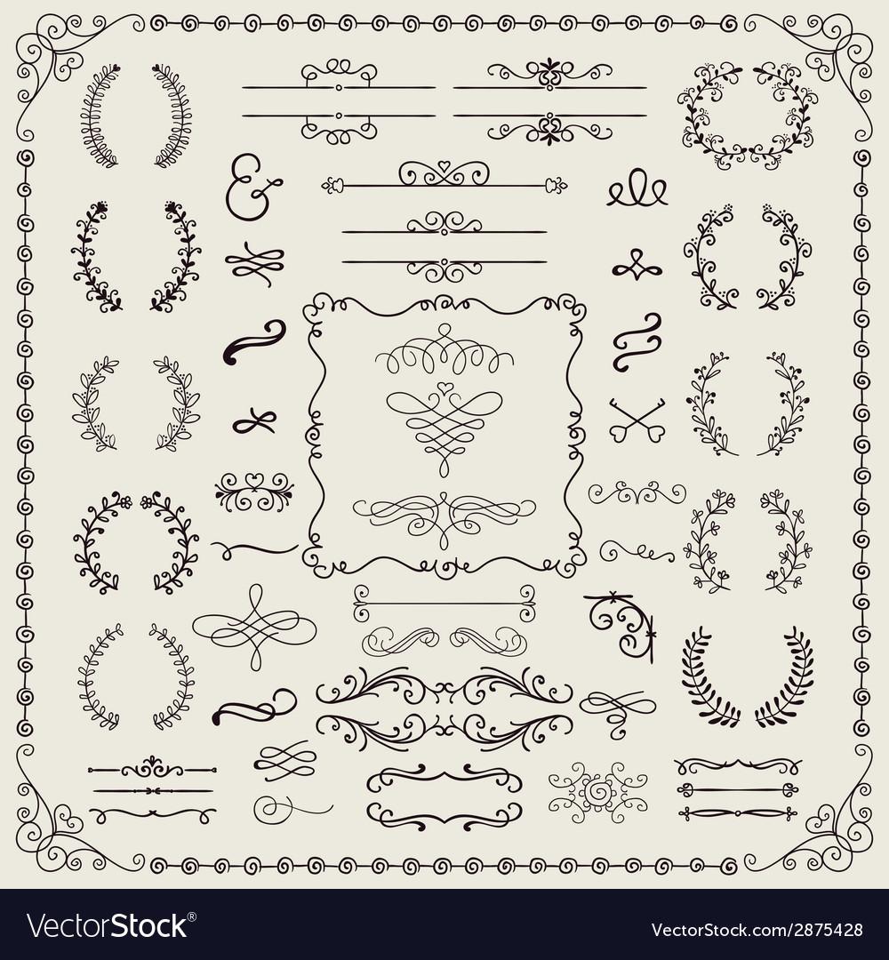 Hand drawn doodle design elements vector | Price: 1 Credit (USD $1)