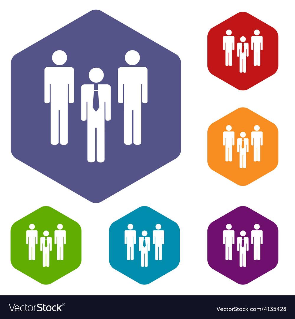 Leader rhombus icons vector | Price: 1 Credit (USD $1)
