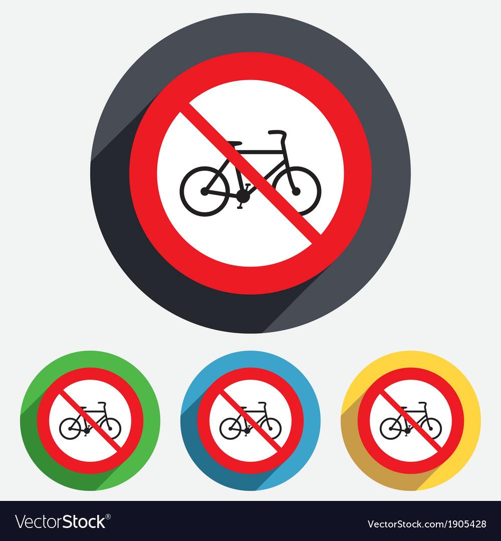 No bicycle sign icon eco delivery vector   Price: 1 Credit (USD $1)