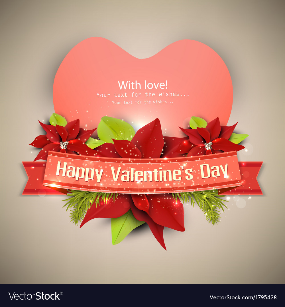 Valentine banner design vector | Price: 1 Credit (USD $1)
