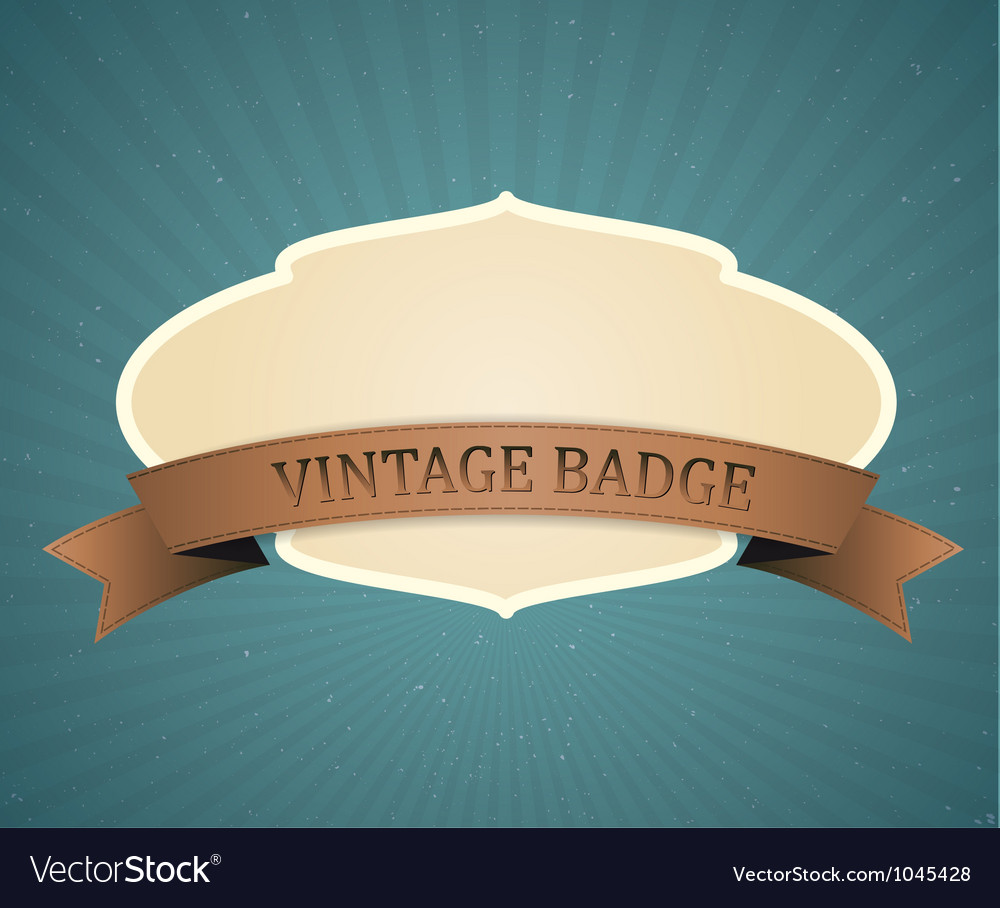 Vintage badge vector | Price: 1 Credit (USD $1)