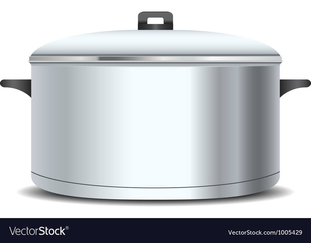 A stainless pan vector | Price: 1 Credit (USD $1)