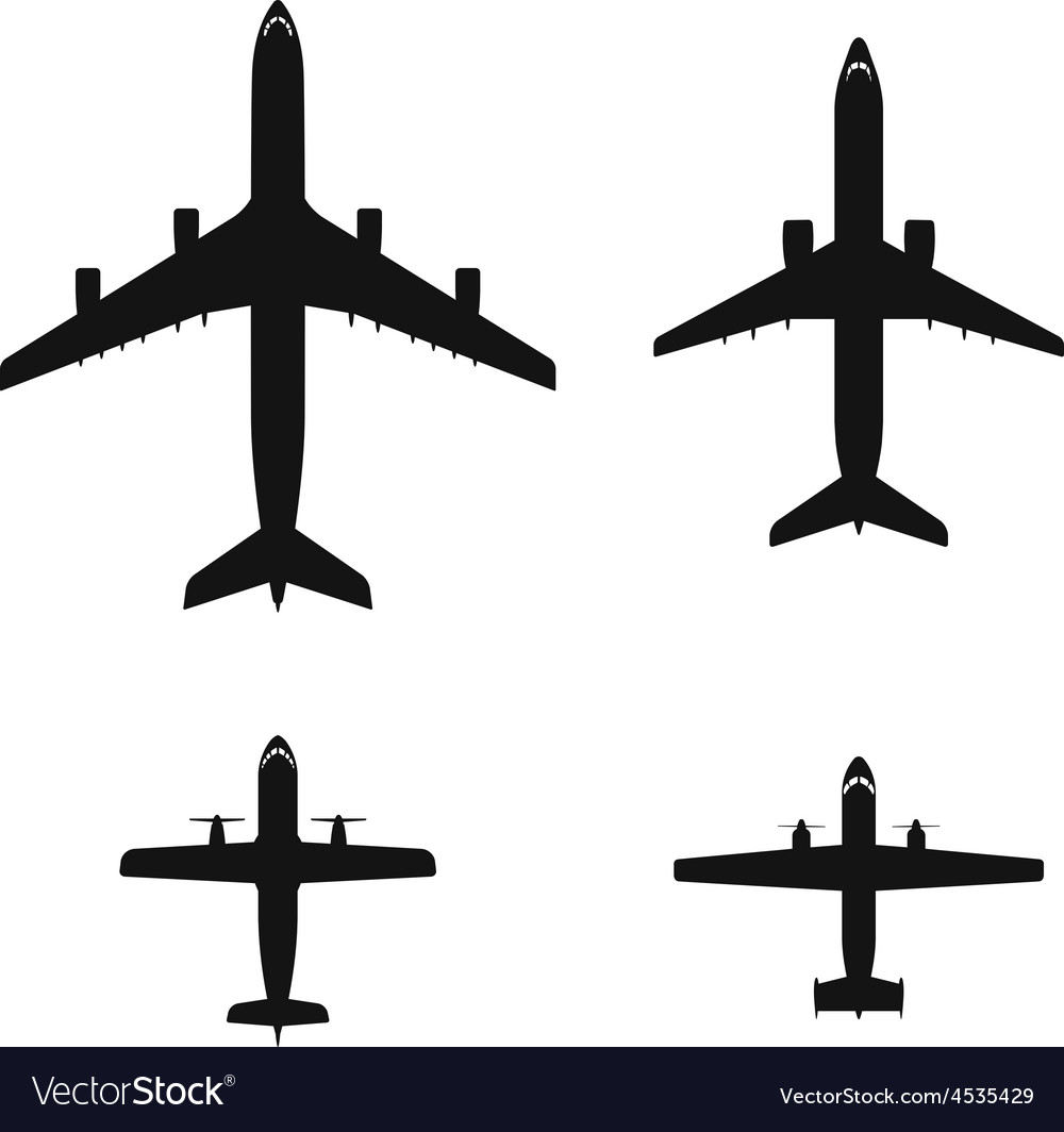 Airplane icon set vector | Price: 1 Credit (USD $1)