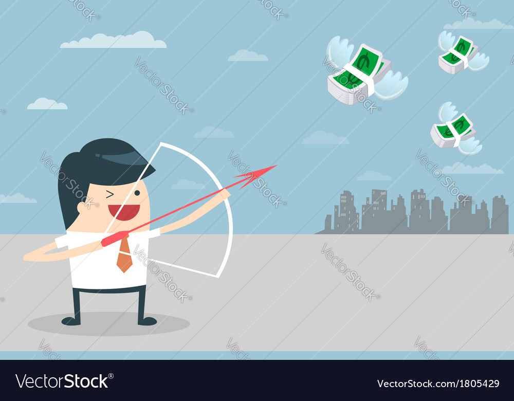 Businessman target vector | Price: 1 Credit (USD $1)