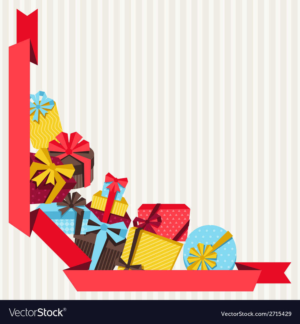 Celebration background or card with colorful gift vector | Price: 1 Credit (USD $1)