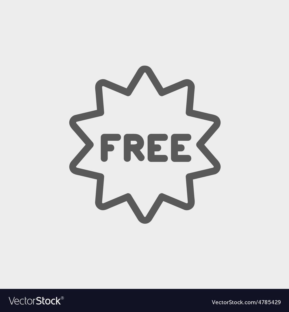 Free tag thin line icon vector | Price: 1 Credit (USD $1)