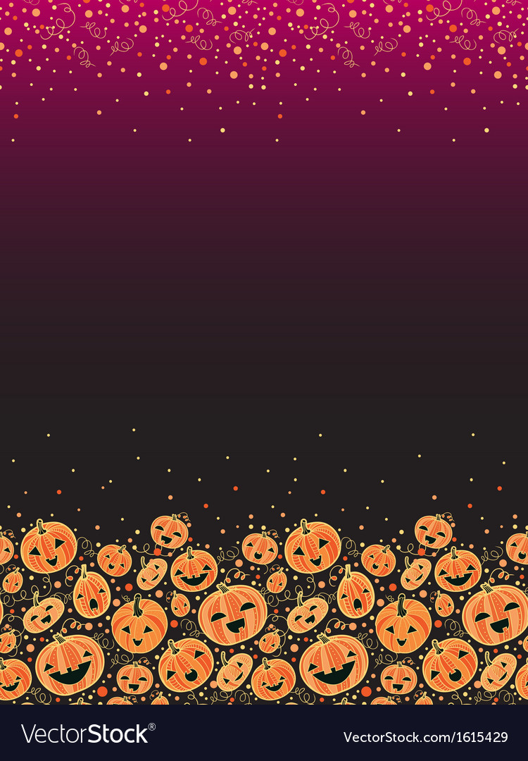 Halloween pumpkins vertical decor background vector | Price: 1 Credit (USD $1)