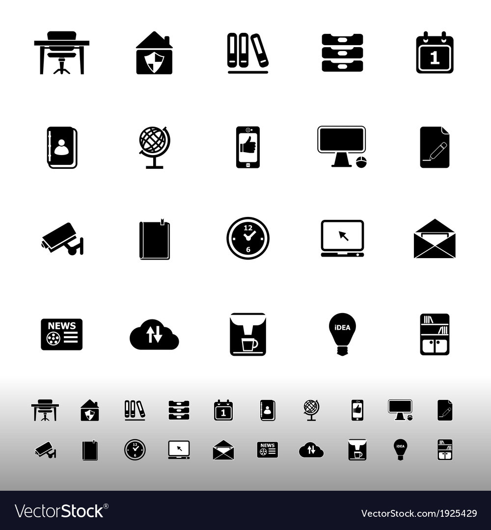 Home office icons on white background vector | Price: 1 Credit (USD $1)
